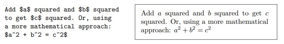公式和普通文本混排